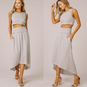 2 piece knit skirt and top set new Glamvault